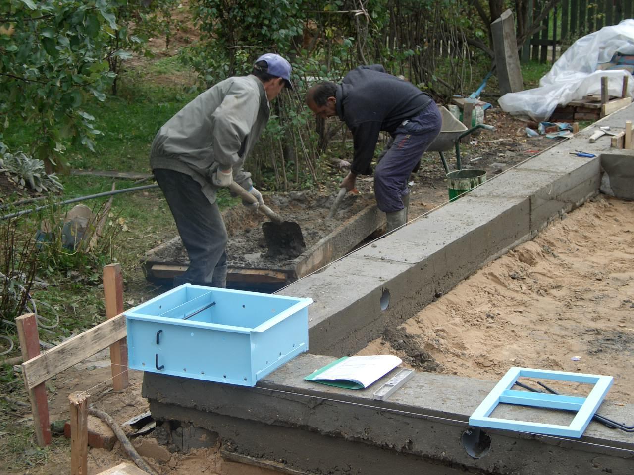 Строим дом из блоков своими руками фундамент